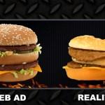 Werbung vs. Realität  –  die falschen Versprechen der Fastfood Ketten!